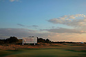 SOUTHPORT, ENGLAND - JULY 26:  Sunset over the 18th green after the second round of The Senior Open Championship played at Royal Birkdale Golf Club on July 26, 2013 in Southport, United Kingdom.  (Photo by Phil Inglis/Getty Images)