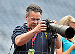 18 May 2012: Photographer Mark Goldman works batting practice prior to a game between the Washington Nationals and the Baltimore Orioles at Nationals Park in Washington, DC. The Orioles defeated the Nationals 2-1 in the first game of their 3-game series. Mandatory Credit: Ed Wolfstein Photo