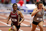 NAPERVILLE, IL - MARCH 11: Jordin Fender of Transylvania University, left, competes in the 60 meter hurdles at the Division III Men's and Women's Indoor Track and Field Championship held at the Res/Rec Center on the North Central College campus on March 11, 2017 in Naperville, Illinois. (Photo by Steve Woltmann/NCAA Photos via Getty Images)