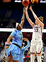 UNCASVILLE, CONNECTICUT -MAR 04: #33 Katie Lou Samuelson notches two of her game high 21 points as UCONN defeats Tulane 82-56, on March 4, 2018 in Uncasville, Connecticut. ( Photo by D. Heary/Eclipse Sportswire/Getty Images)