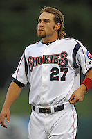 Brett Jackson during a game against the Mississippi Braves at Smokies Park, Kodak, TN August 19, 2010. Tennessee won the game 5-4.