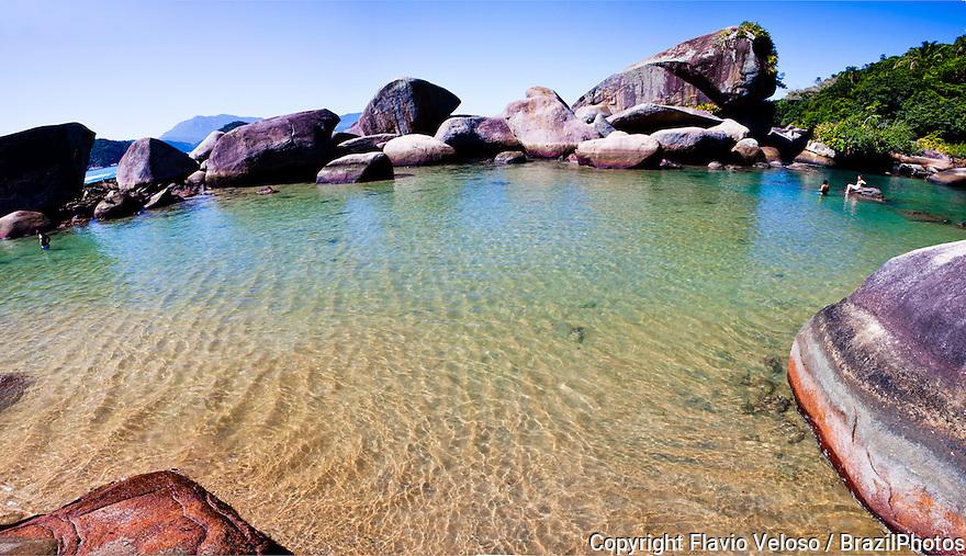 Cachadaco pools at Trindade island, Paraty, Rio de Janeiro state, Brazil.