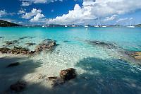Honeymoon Beach.<br /> Virgin Islands National Park<br /> St John. US Virgin Islands