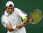 Tennis All England Championships Wimbledon Tobias Summerer (GER) spielt eine Rueckhand.