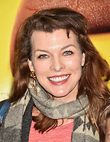 WESTWOOD, CA - FEBRUARY 02: Milla Jovovich attends the Premiere Of Warner Bros. Pictures' 'The Lego Movie 2: The Second Part' at Regency Village Theatre on February 2, 2019 in Westwood, California.<br /> CAP/ROT/TM<br /> ©TM/ROT/Capital Pictures