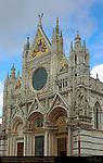 Gothic Facade, Giovanni Pisano and Camino di Crescentino 1284-1317, Cathedral of Siena, Santa Maria Assunta, Siena, Italy