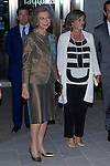09.10.2012. Queen Sofia of Spain attends concert in Ainhoa Arteta at the Teatros del Canal in Madrid, Spain. In the image Queen Sofia and Mayor of Madrid Ana Botella  (Alterphotos/Marta Gonzalez)