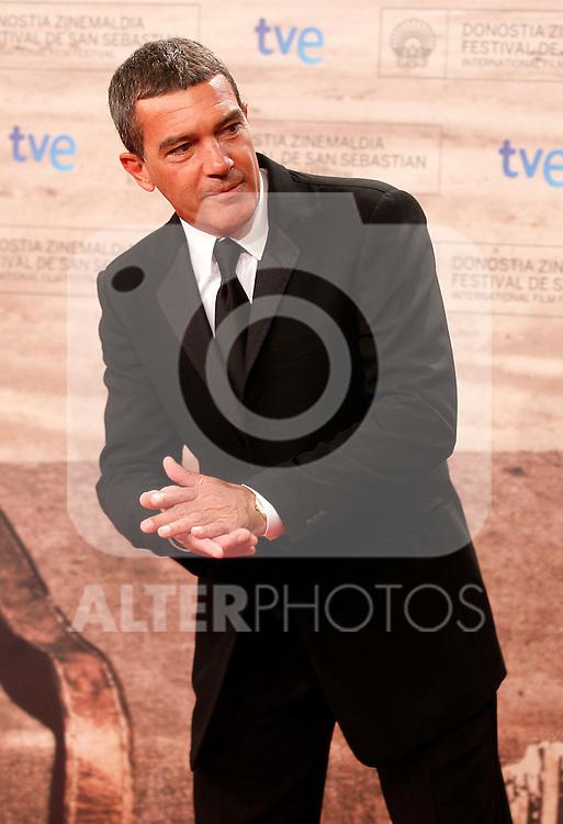 Spanish actor Antonio Banderas during the 59th San Sebastian Donostia International Film Festival - Zinemaldia.September 24,2011.(ALTERPHOTOS/ALFAQUI/Acero)