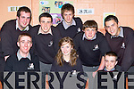 Killarney Community College pupils who received awards at their annual awards night on Thursday night front row l-r: Dylan Dreher, Sara Fitzgerald, Finbarr Corkery. Back row: Shane Hurley, Michael Allman, Johnaton McClintock and Jason O'Sullivan..