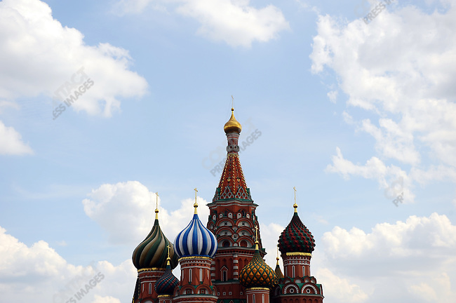 St. Basil's Cathedral in Red Square, Moscow, Russia, July 12, 2009