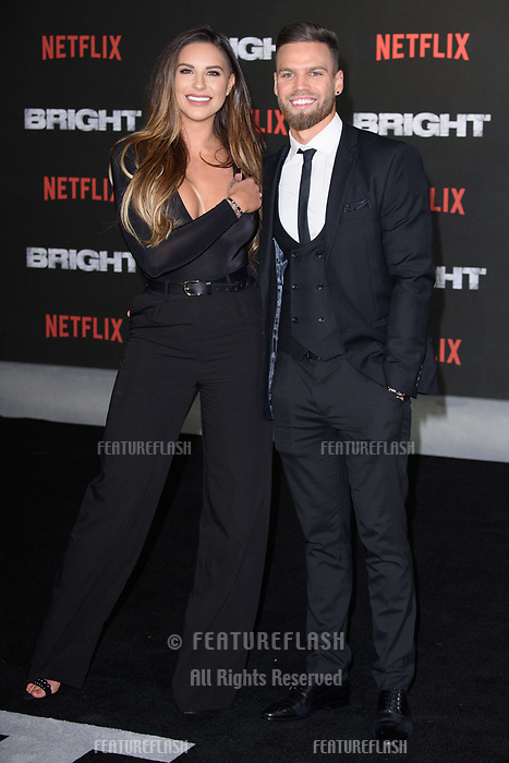 Jessica Shears &amp; Jonny Mitchell at the European premiere for &quot;Bright&quot; European premiere at the BFI South Bank, London, UK. <br /> 15 December  2017<br /> Picture: Steve Vas/Featureflash/SilverHub 0208 004 5359 sales@silverhubmedia.com