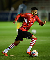 Lincoln City's Kellan Gordon during the pre-match warm-up<br /> <br /> Photographer Chris Vaughan/CameraSport<br /> <br /> The EFL Checkatrade Trophy Northern Group H - Lincoln City v Wolverhampton Wanderers U21 - Tuesday 6th November 2018 - Sincil Bank - Lincoln<br />  <br /> World Copyright © 2018 CameraSport. All rights reserved. 43 Linden Ave. Countesthorpe. Leicester. England. LE8 5PG - Tel: +44 (0) 116 277 4147 - admin@camerasport.com - www.camerasport.com