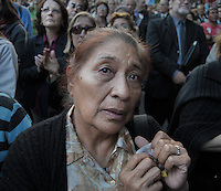 People during the funeral of former prsident of Argentina Nestor Kirchner at the presidential palace of Buenos Aires, Argentina