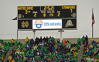 Notre Dame trailed for the first time in six games.