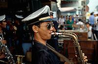 Musik bei Beerdigung in Saigon, Vietnam
