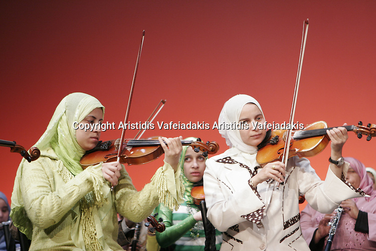 Al Nour Wal Amal is Egyptian orchestra from blind women.