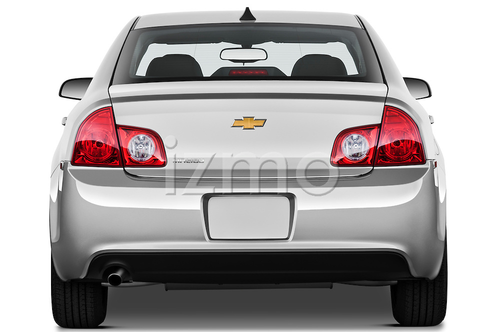 Straight rear view of a 2012 Chevrolet Malibu 1LS