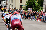Thomas De Gendt (BEL) Lotto-Soudal leads the breakaway during Stage 6 of the 2019 Tour de France running 160.5km from Mulhouse to La Planche des Belles Filles, France. 11th July 2019.<br /> Picture: ASO/Pauline Ballet   Cyclefile<br /> All photos usage must carry mandatory copyright credit (© Cyclefile   ASO/Pauline Ballet)
