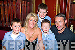FAB FORTY: Mary Bowler, Ballinorig, Tralee (front centre) celebrated her 40th birthday last Saturday with a massive bash in the Meadowlands Hotel, OakPark, Tralee, with her hubby Michael, their 3 sons Jordan, Steven & Daniel and many friends and family.