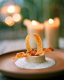 AUSTRIA, Schutzen Am Gerbige, crunch vanilla rice pudding with sour cream sorbet, Taubenkobel Restaurant, Burgenland