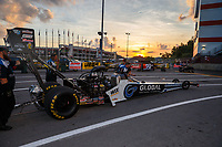 Jun 16, 2017; Bristol, TN, USA; NHRA top fuel driver Shawn Langdon during qualifying for the Thunder Valley Nationals at Bristol Dragway. Mandatory Credit: Mark J. Rebilas-USA TODAY Sports