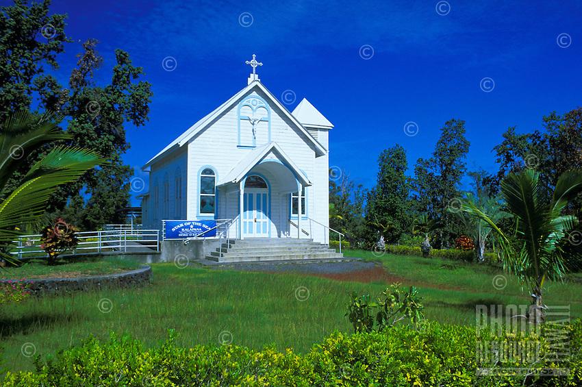 Star of the Sea church in Kalapana on the Big island of Hawaii