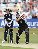 Sophie Devine in batting action for New Zealand as Sarah Taylor looks on - England Women vs New Zealand Women - First match of the NatWest summer T20 cricket series at the Ford County Ground, home of Essex CCC, Chelmsford -  29/06/10 - MANDATORY CREDIT: Gavin Ellis/TGSPHOTO - Self billing applies where appropriate - Tel: 0845 094 6026