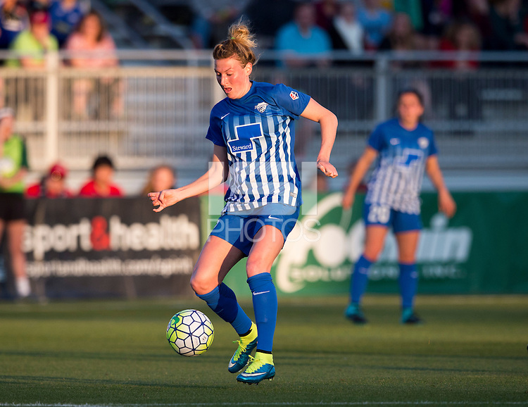 Boyds, MD - April 16, 2016: Boston Breakers defender Kassey Kallman (5). The Washington Spirit defeated the Boston Breakers 1-0 during their National Women's Soccer League (NWSL) match at the Maryland SoccerPlex.
