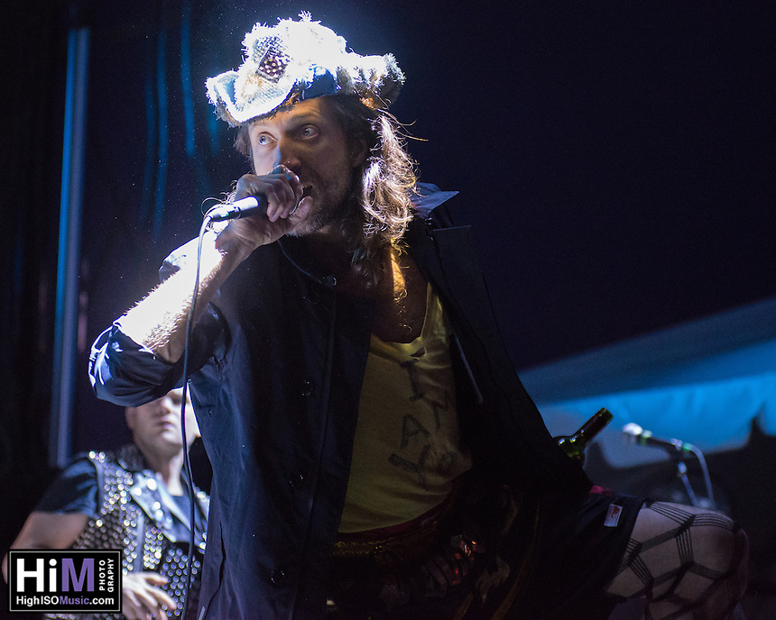 Gogol Bordello performs at the 2014 Voodoo Music Experience in New Orleans, LA.