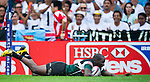 Zimbabwe play Mexico on Day 1 of the Cathay Pacific / HSBC Hong Kong Sevens 2013 at Hong Kong Stadium, Hong Kong. Photo by Victor Fraile / The Power of Sport Images