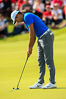 Julian Suri (USA) makes this putt to win the 18th green during Round 4 of Made in Denmark at Himmerland Golf &amp; Spa Resort, Farso, Denmark. 27/08/2017<br /> Picture: Golffile | Thos Caffrey<br /> <br /> All photo usage must carry mandatory copyright credit     (&copy; Golffile | Thos Caffrey)