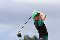 Brandon St. John (Portmarnock) on the 10th tee during the Final round in the Connacht U16 Boys Open 2018 at the Gort Golf Club, Gort, Galway, Ireland on Wednesday 8th August 2018.<br /> Picture: Thos Caffrey / Golffile<br /> <br /> All photo usage must carry mandatory copyright credit (&copy; Golffile   Thos Caffrey)