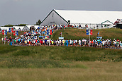 June 14th 2017, Erin, Wisconsin, USA; Spectators watch on the 13th hole during the 117th US Open - Practice Round at Erin Hills in Erin, Wisconsin