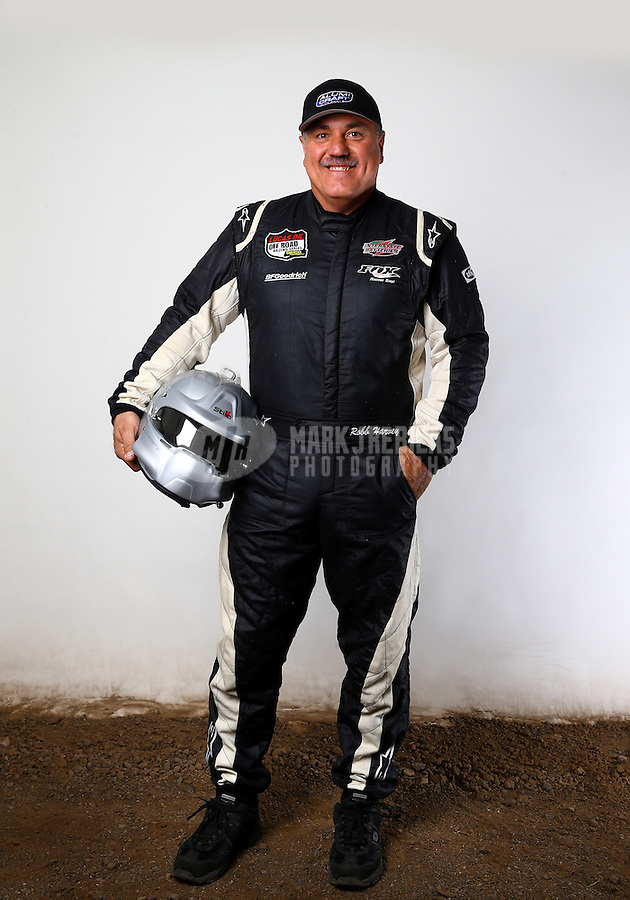 Mar. 21, 2014; Chandler, AZ, USA; LOORRS pro buggy driver Robb Harvey poses for a portrait prior to round one at Wild Horse Motorsports Park. Mandatory Credit: Mark J. Rebilas-USA TODAY Sports