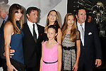 HOLLYWOOD, CA - AUGUST 15: Sylvester Stallone, Jennifer Flavin and daugthers Sophia, Sistin and Scarlet and Frank Stallone arrive at the 'The Expendables 2' - Los Angeles Premiere at Grauman's Chinese Theatre on August 15, 2012 in Hollywood, California.