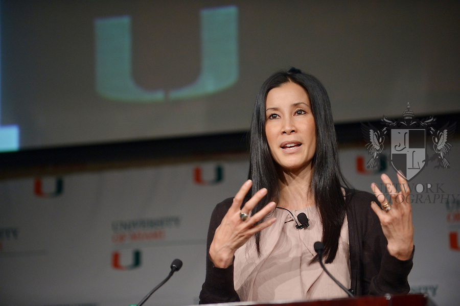 CORAL GABLES, FL - SEPTEMBER 09: Lisa Ling attend and gives the University of Miami 2013 Fall convocation speech 'Open Heart Open Mind' at Bank United Center Multipurpose Room on September 9, 2013 in Miami, Florida. (Photo by Johnny Louis/jlnphotography.com)