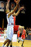 GRONINGEN - Basketbal, Donar - Spirou Basket, Martiniplaza, Europe Cup, seizoen 2018-2019, 20-11-2018, score van Donar speler Jason Dourisseau