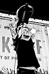 Tom Gabel performs with Against Me! at the Campus Philly Kickoff 2007