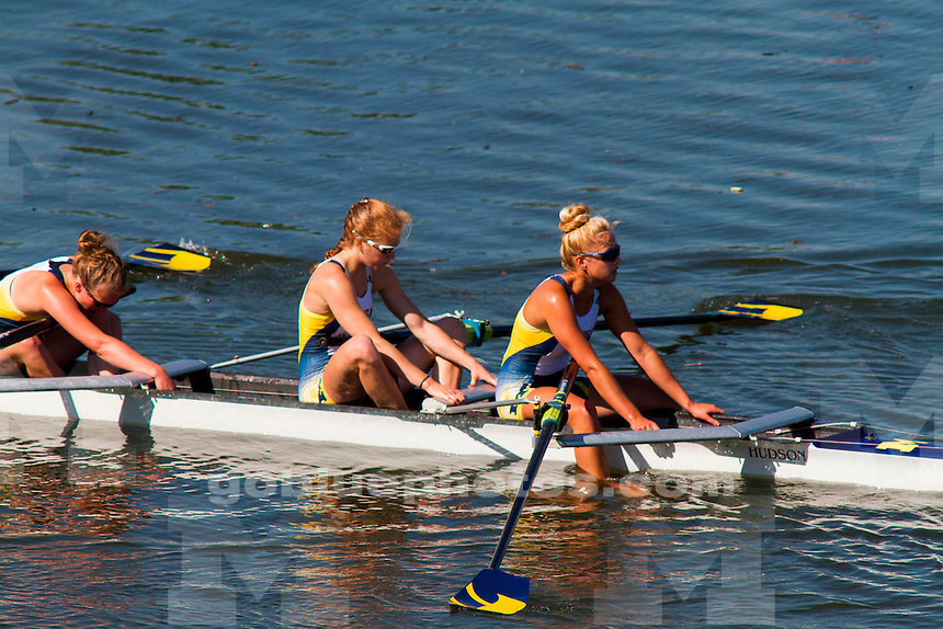 The University of Michigan Rowing team competes on the final day at the 2014 NCAA Rowing Championships in Indianapolis, IN