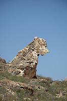 Rock formations at the coast of Nugad, Socotra, Yemen