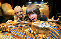 17/02/'11 RTEs Miriam O'Callaghan and her son, Jamie (4) pictured this afternoon after she officially opened the exhibition 'Tutankhamun: His Tomb and His Treasures' in the RDS Dublin. Tutankhamun: His Tomb and His Treasures has already delighted over 1.7 million visitors across Europe. Tickets can be bought on www.ticketmaster.ie...Picture Colin Keegan, Collins, Dublin.***NO REPRODUCTION FEE PICTURE****