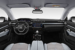 Stock photo of straight dashboard view of 2018 Peugeot 508 Allure 5 Door Hatchback Dashboard