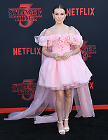 "28 June 2019 - Santa Monica, California - Millie Bobby Brown. ""Stranger Things 3"" LA Premiere held at Santa Monica High School. <br /> CAP/ADM/BT<br /> ©BT/ADM/Capital Pictures"