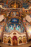 St. Demitrias, Serbian Chruch, Lazarevac, Serbia...Frescos within the chapel created by Iconographer Miloje Milinkovic early in his painting carrear in the late 1970s and early 1980s.