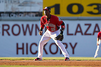 Shortstop Jurickson Profar #10 of the Hickory Crawdads on defense against the Augusta GreenJackets at L.P. Frans Stadium on April 29, 2011 in Hickory, North Carolina.   Photo by Brian Westerholt / Four Seam Images