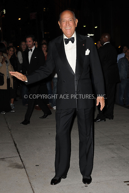 WWW.ACEPIXS.COM . . . . . ....October 22 2009, New York City....Designer Oscar de la Renta arriving at the Fashion Group International's 26th annual Night Of Stars at Cipriani, Wall Street on October 22, 2009 in New York City.....Please byline: KRISTIN CALLAHAN - ACEPIXS.COM.. . . . . . ..Ace Pictures, Inc:  ..tel: (212) 243 8787 or (646) 769 0430..e-mail: info@acepixs.com..web: http://www.acepixs.com