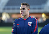 WASHINGTON D.C. - OCTOBER 11: Aaron Long #3 of the United States during warm ups prior to their Nations League game versus Cuba at Audi Field, on October 11, 2019 in Washington D.C.