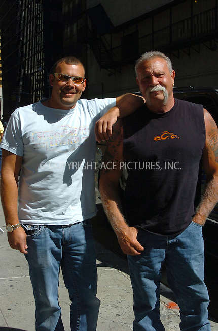 "WWW.ACEPIXS.COM . . . . .  ....July 12 2007, New York City....TV reality show personality Paul Teutul Sr. (R) and Paul Teutul Jr. from ""Orange County Choppers"" arriving at 'The Late Show with David Letterman' at the Ed Sullivan Theatre in Manhattan.....Please byline: AJ Sokalner - ACEPIXS.COM..... *** ***..Ace Pictures, Inc:  ..te: (646) 769 0430..e-mail: info@acepixs.com..web: http://www.acepixs.com"