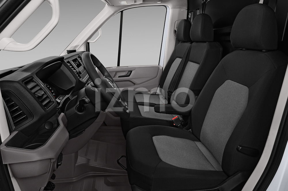 Front seat view of a 2017 Volkswagen Crafter Base 4 Door Cargo Van front seat car photos