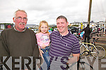At the Ras na mBan stage Start/Finish in Waterville on Thursday last were l-r; John Galvin, Eva & Eric Fitzgerald.